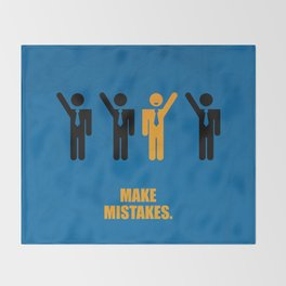 Lab No. 4 -Make Mistakes Inspirational, Corporate Startup Quotes poster Throw Blanket