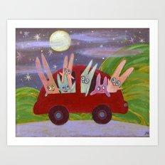 bon voyage! Art Print