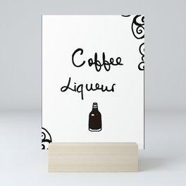 Coffee Liqueur Mini Art Print