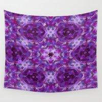 mandela Wall Tapestries featuring Purple Mandela #2246 by Celeste Sheffey of Khoncepts