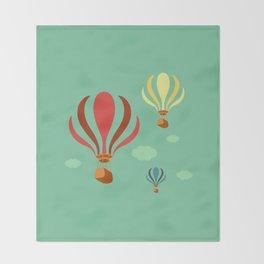 Hot Air Balloon Ride Throw Blanket
