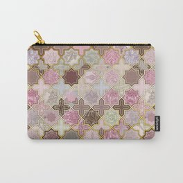 Neapolitan Geometric Tile Pattern Carry-All Pouch