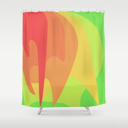 Dripping Circles Shower Curtain