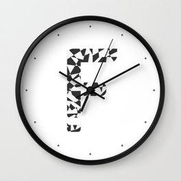 """Tao """"Letter F"""" Wall Clock"""