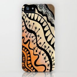 From copper to bronze tangled iPhone Case