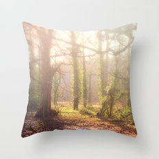 Woodland Fog Throw Pillow