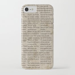 Alice and the Hookah Smoking Caterpillar  iPhone Case