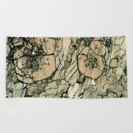 Garnet Crystals Beach Towel