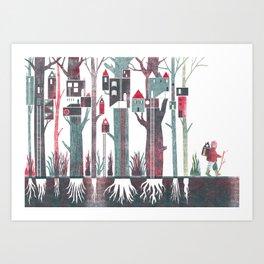 TREKKING Art Print