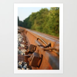 Rusted Path Art Print