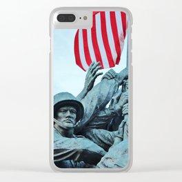 Iwo Jima Memorial Clear iPhone Case