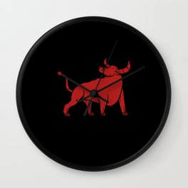 Bull I Animal Lover I Wild Animals Wall Clock