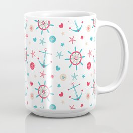 Rudders Anchors & Sand Dollars Coffee Mug