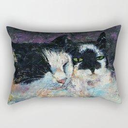 Two Cats Rectangular Pillow