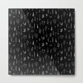 Little Black Wildflowers Metal Print