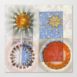 Goondie Fact Flower  ID:16165-095608-32641 Canvas Print