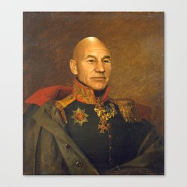 Sir Patrick Stewart - replaceface Canvas Print