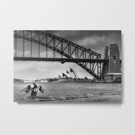 Bridge's, Bird's and Opera Houses Metal Print