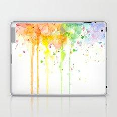 Watercolor Rainbow Splatters Abstract Texture Laptop & iPad Skin