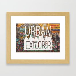 URBAN EXPLORER Framed Art Print