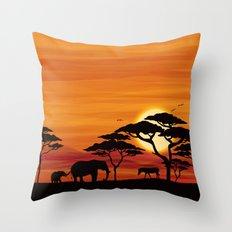 Africa #2 Throw Pillow
