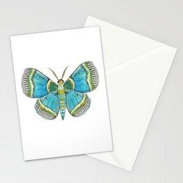 Blue Moth on navy Stationery Cards