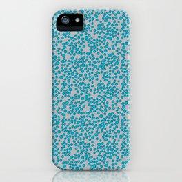 Aqua Scribble Dot iPhone Case