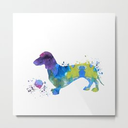 Colorful Dachshund Art Metal Print