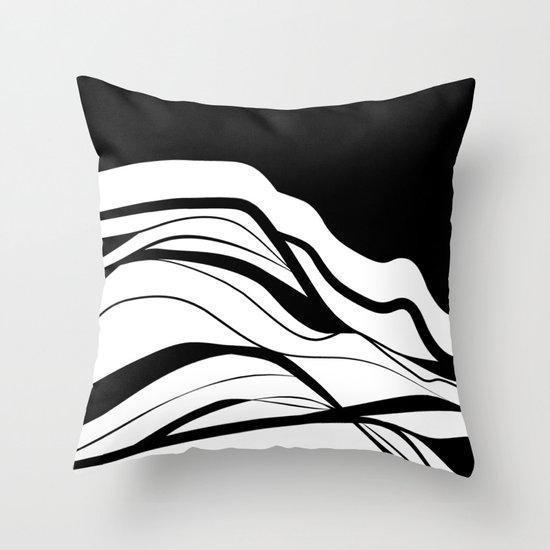 Black & white / minimalist Throw Pillow