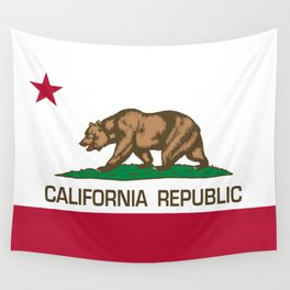 California flag, High Quality Authentic Wall Tapestry