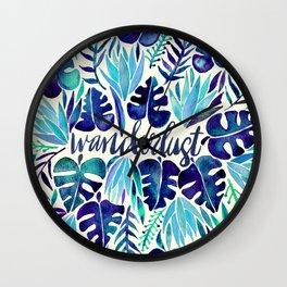Tropical Wanderlust – Blue Wall Clock