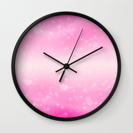 Magic deep pink heart patterned Wall Clock