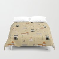 florence Duvet Covers featuring Florence by Charlotte Langstroth