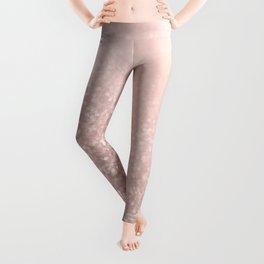 Rose Gold Sparkles on Pretty Blush Pink VI Leggings