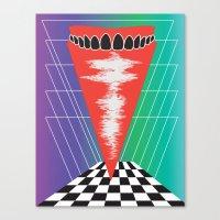 teeth Canvas Prints featuring .Teeth by Daeton Hebert