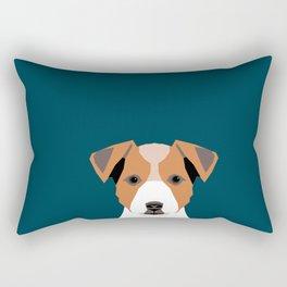 Bailey - Jack Russell Terrier phone case art print gift for dog people Jack Russell Terrier owners Rectangular Pillow