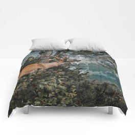The Mountain Deer - Landscape and Nature Photography Comforters