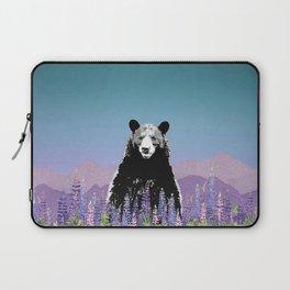 Black Bear in Lupine Laptop Sleeve