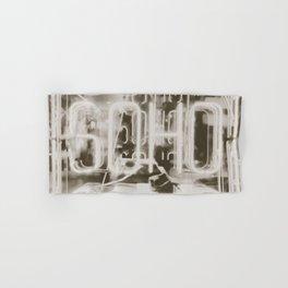 Neon Soho Sign Illuminated in London Hand & Bath Towel