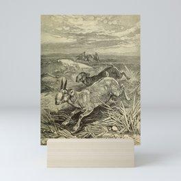 Vintage Print - Animals in Action (1901) - Hunting the Saiga Antelope Mini Art Print