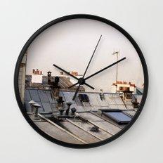 Paris Rooftop #1 Wall Clock