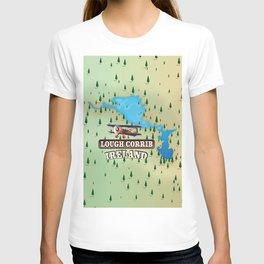 Lough Corrib Ireland map T-shirt