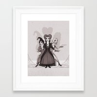 hocus pocus Framed Art Prints featuring Hocus Pocus by Sam Pea