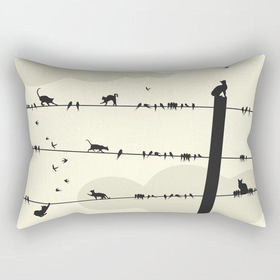 Cats and Birds Rectangular Pillow