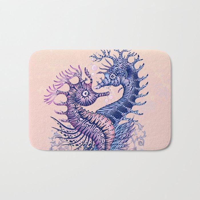 Seahorse tattoo Bath Mat