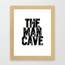 Man Cave 2 Framed Art Print