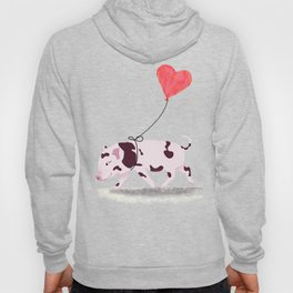 Baby Pig With Heart Balloon Hoody