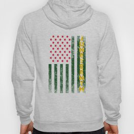 Juneteenth Freedom Day American Flag with African Colors Hoody