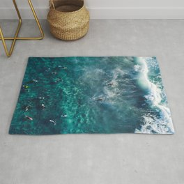 Surfing in the Ocean 2 Rug