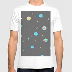 Need Some Space MEDIUM White Mens Fitted Tee